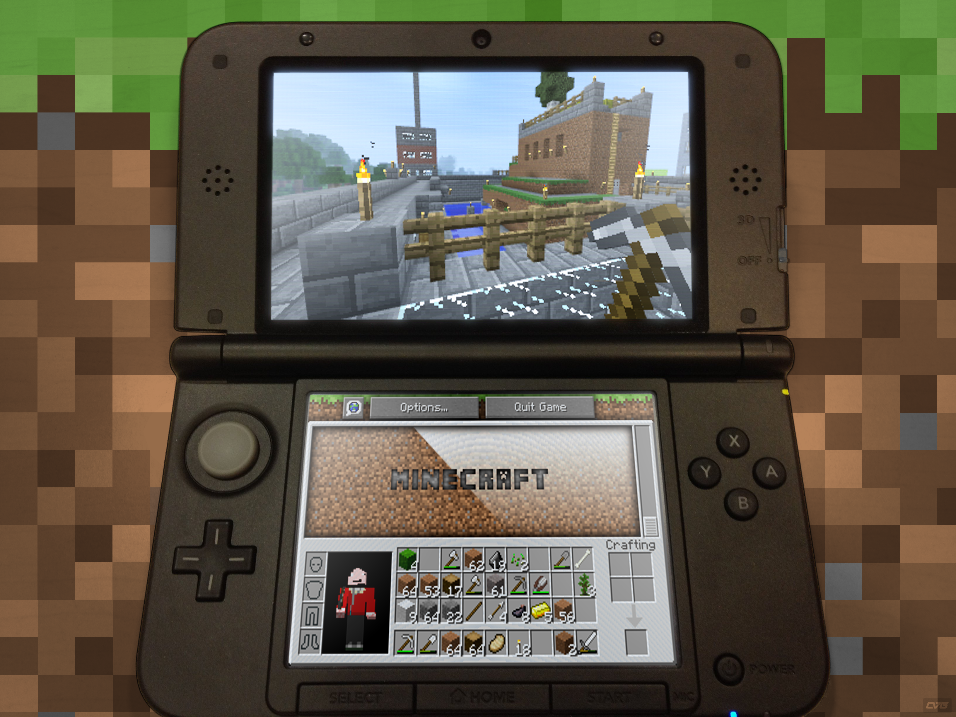 minecraft on nintendo middle of nowhere gaming. Black Bedroom Furniture Sets. Home Design Ideas