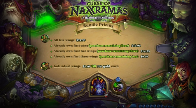 Hearthstone: Curse Of Naxxramas Pricing Announced