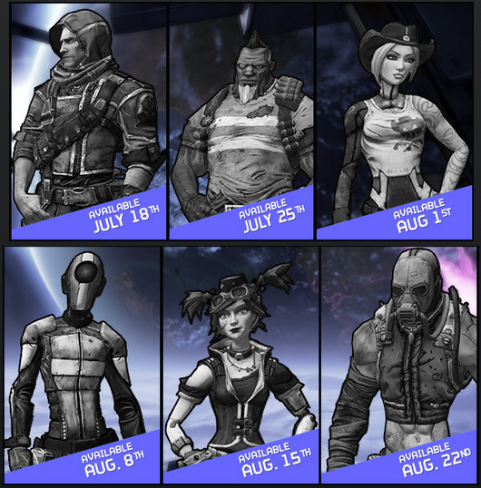 Pre sequel heads and skins coming to borderlands 2