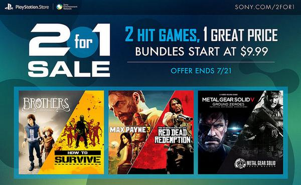 PlayStation Network 2-for-1 Sale