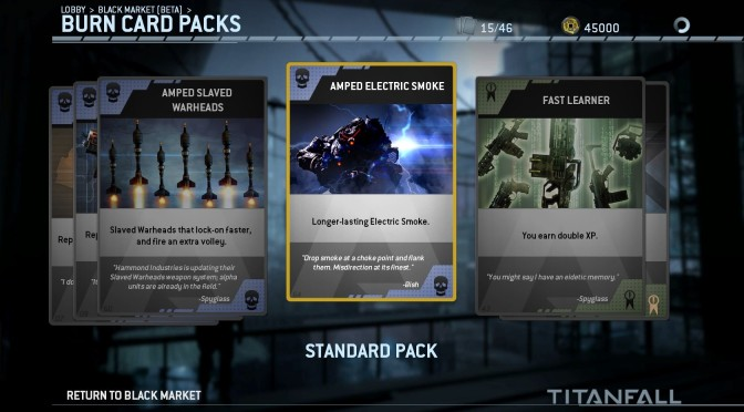 Incoming Drop for Titanfall DLC and New In-Game Black Market