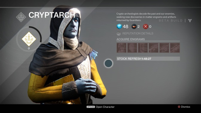 Destiny's Cryptarch Becomes One of the Good Guys in Patch 1.0.2
