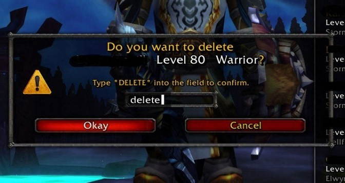 Undelete your characters in World of Warcraft