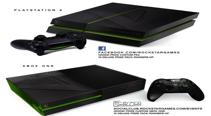 Rockstar Announce Custom Grand Theft Auto 5 Playstation 4 and Xbox One Consoles