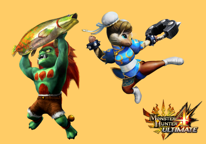 Monster Hunter and Street Fighter Meet in the Cutest Way Possible