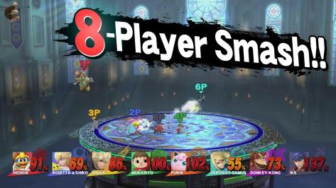 Eight Player Super Smash Bros. for Wii U