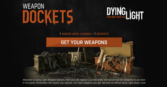 """Pre-order Dying Light to Get """"Top-Tier"""" DLC Weapons"""