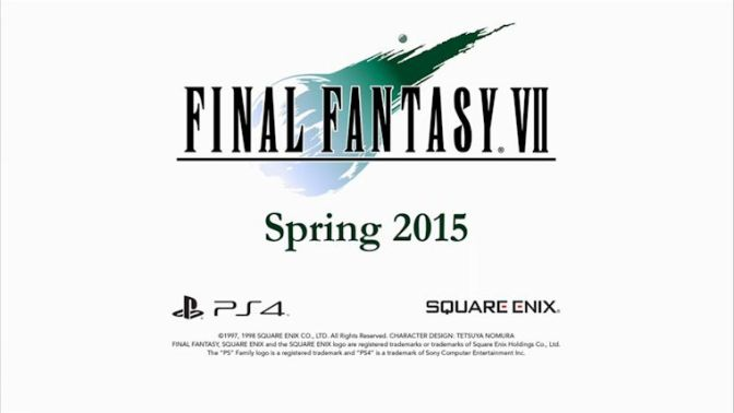 Final Fantasy VII Is Coming To PlayStation 4