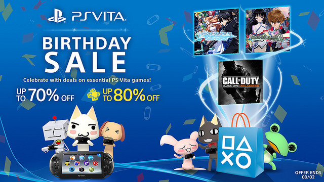 PS Vita Birthday Flash Sale