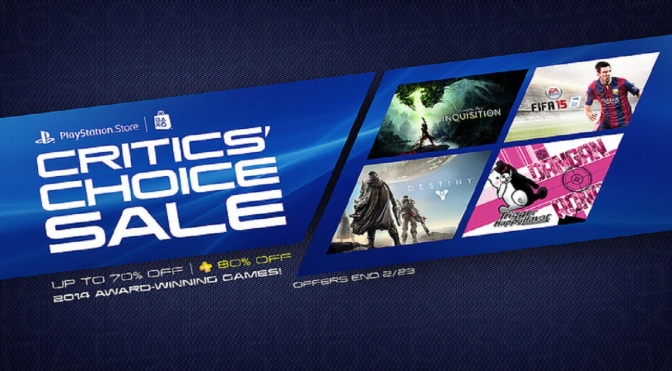 PlayStation Critic's Choice Sale