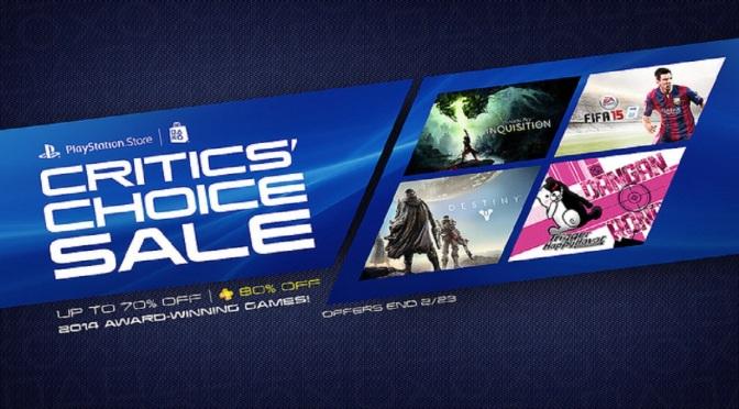 PlayStation Critic's Choice Sale