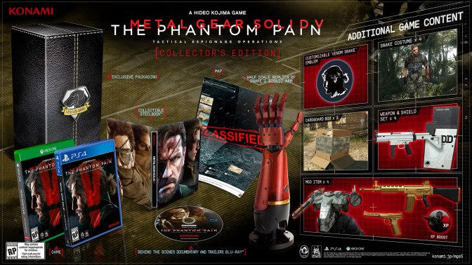 Metal Gear Solid V: The Phantom Pain Release Date, Day One and Collecter's Edition