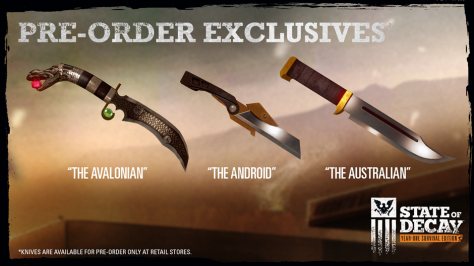 State of Decay Knife Pack