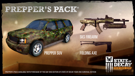 State of Decay Pepper's Pack