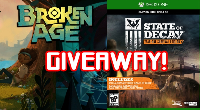 Giveaway for Your Choice of Either Broken Age (PS4/PC) or State of Decay (XB1)!