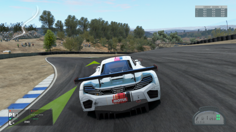 The McLaren 12C GT3 at Laguna Seca