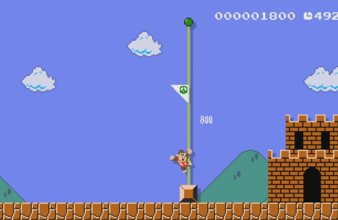Sonic, Donkey Kong and Link in the NES Super Mario Bros.?
