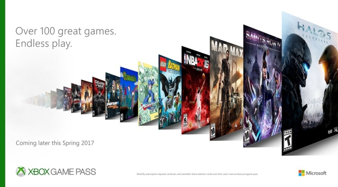 "Microsoft unveils ""Game Pass"""