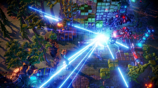 Nex Machina Launch Trailer Fires Off Colorful Arcade Action